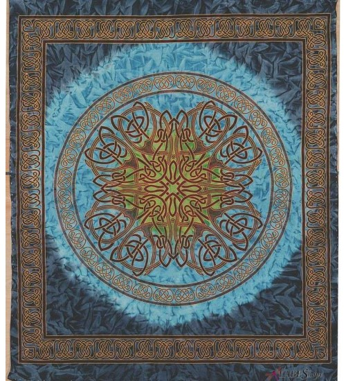 Celtic Print Turquoise Tapestry at All Wicca Store Magickal Supplies, Wiccan Supplies, Wicca Books, Pagan Jewelry, Altar Statues