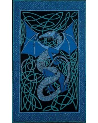 Celtic English Dragon Tapestry - Twin Size Blue All Wicca Store Magickal Supplies Wiccan Supplies, Wicca Books, Pagan Jewelry, Altar Statues