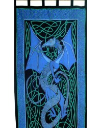Celtic English Dragon Curtain - Blue All Wicca Store Magickal Supplies Wiccan Supplies, Wicca Books, Pagan Jewelry, Altar Statues