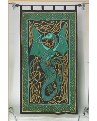 Celtic English Dragon Curtain - Green All Wicca Store Magickal Supplies Wiccan Supplies, Wicca Books, Pagan Jewelry, Altar Statues