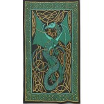 Celtic English Dragon Tapestry - Twin Size Green