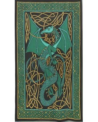 Celtic English Dragon Tapestry - Twin Size Green All Wicca Store Magickal Supplies Wiccan Supplies, Wicca Books, Pagan Jewelry, Altar Statues