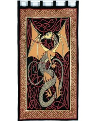 Celtic English Dragon Curtain - Red All Wicca Store Magickal Supplies Wiccan Supplies, Wicca Books, Pagan Jewelry, Altar Statues