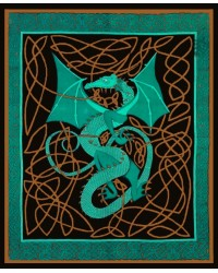 Celtic English Dragon Tapestry - Full Size Green All Wicca Store Magickal Supplies Wiccan Supplies, Wicca Books, Pagan Jewelry, Altar Statues