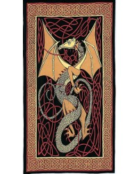 Celtic English Dragon Tapestry - Twin Size Red All Wicca Store Magickal Supplies Wiccan Supplies, Wicca Books, Pagan Jewelry, Altar Statues