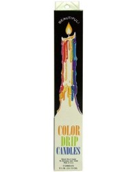Multi Color Drip Taper Candles All Wicca Store Magickal Supplies Wiccan Supplies, Wicca Books, Pagan Jewelry, Altar Statues