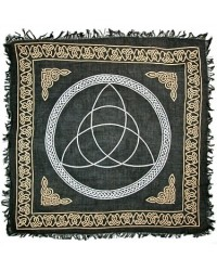 Triquetra Large Altar Cloth - Gold and Black