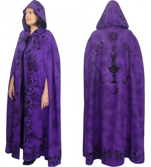 Purple Moon Goddess Hooded Cloak at All Wicca Store Magickal Supplies, Wiccan Supplies, Wicca Books, Pagan Jewelry, Altar Statues