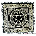 Pentacle Altar Cloth - Gold and Black