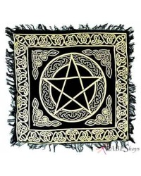 Pentacle Altar Cloth - Gold and Black All Wicca Store Magickal Supplies Wiccan Supplies, Wicca Books, Pagan Jewelry, Altar Statues
