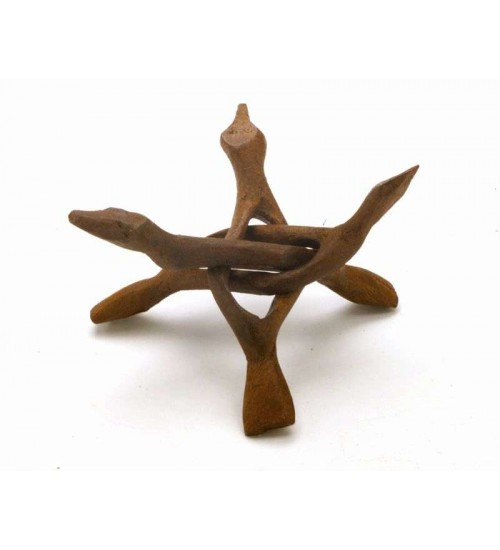 Wood Cobra Stand - 6 Inches at All Wicca Magickal Supplies, Wiccan Supplies, Wicca Books, Pagan Jewelry, Altar Statues
