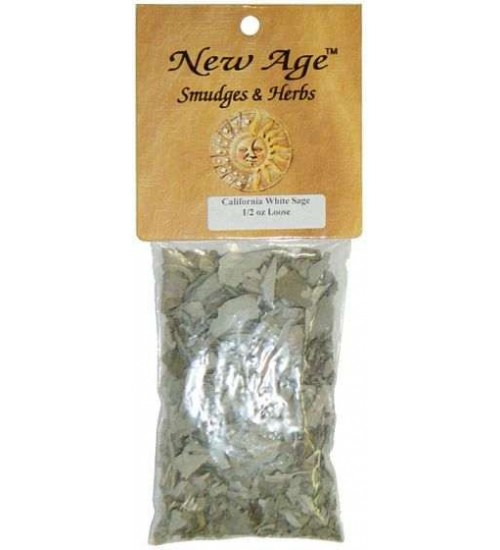 Sacred White Sage Herbal Incense at All Wicca Magickal Supplies, Wiccan Supplies, Wicca Books, Pagan Jewelry, Altar Statues