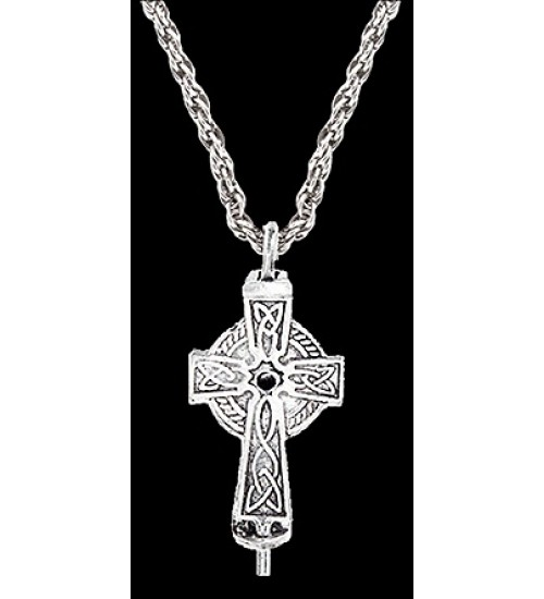 Celtic Cross Aromatherapy Diffuser Pendant at All Wicca Store Magickal Supplies, Wiccan Supplies, Wicca Books, Pagan Jewelry, Altar Statues