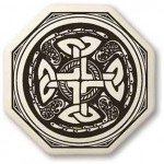 Celtic Cross Octogonal Porcelain Necklace