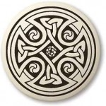 Celtic Cross Round Porcelain Necklace