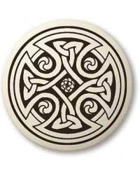 Celtic Cross Round Porcelain Necklace All Wicca Store Magickal Supplies Wiccan Supplies, Wicca Books, Pagan Jewelry, Altar Statues