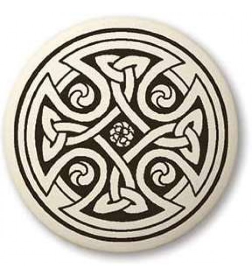 Celtic Cross Round Porcelain Necklace at All Wicca Store Magickal Supplies, Wiccan Supplies, Wicca Books, Pagan Jewelry, Altar Statues