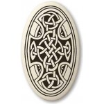Celtic Cross Oval Porcelain Necklace