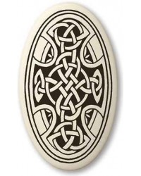 Celtic Cross Oval Porcelain Necklace All Wicca Store Magickal Supplies Wiccan Supplies, Wicca Books, Pagan Jewelry, Altar Statues