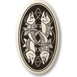 Fish Celtic Porcelain Oval Necklace