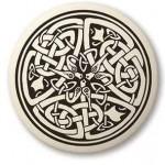 Celtic Serpent Porcelain Round Necklace