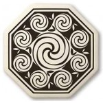 Celtic Spirals Porcelain Octagonal Necklace