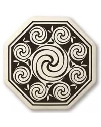Celtic Spirals Porcelain Octagonal Necklace All Wicca Store Magickal Supplies Wiccan Supplies, Wicca Books, Pagan Jewelry, Altar Statues