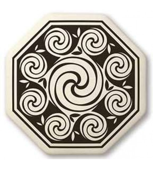 Celtic Spirals Porcelain Octagonal Necklace at All Wicca Store Magickal Supplies, Wiccan Supplies, Wicca Books, Pagan Jewelry, Altar Statues