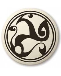 Celtic Spirals Porcelain Round Necklace All Wicca Store Magickal Supplies Wiccan Supplies, Wicca Books, Pagan Jewelry, Altar Statues