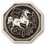 Celtic Horse Porcelain Octagonal Necklace