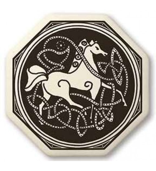 Celtic Horse Porcelain Octagonal Necklace