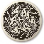 Horse Porcelain Round Celtic Necklace