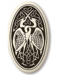 Birds Celtic Porcelain Oval Necklace All Wicca Store Magickal Supplies Wiccan Supplies, Wicca Books, Pagan Jewelry, Altar Statues