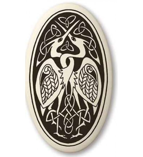 Birds Celtic Porcelain Oval Necklace at All Wicca Store Magickal Supplies, Wiccan Supplies, Wicca Books, Pagan Jewelry, Altar Statues