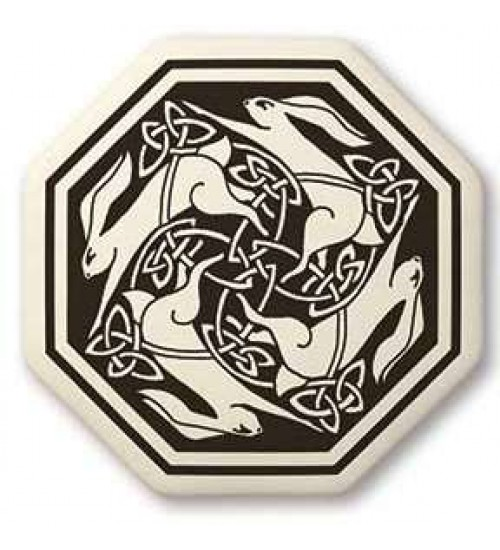 Hare Celtic Porcelain Octagon Necklace at All Wicca Store Magickal Supplies, Wiccan Supplies, Wicca Books, Pagan Jewelry, Altar Statues