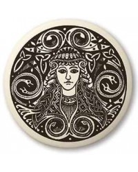 Brigantia Celtic Goddess Porcelain Round Necklace All Wicca Store Magickal Supplies Wiccan Supplies, Wicca Books, Pagan Jewelry, Altar Statues
