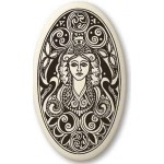 Brigantia Celtic Goddess Porcelain Oval Necklace