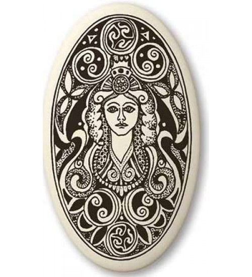 Brigantia Celtic Goddess Porcelain Oval Necklace at All Wicca Store Magickal Supplies, Wiccan Supplies, Wicca Books, Pagan Jewelry, Altar Statues
