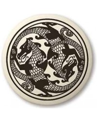Dragon Round Porcelain Necklace All Wicca Store Magickal Supplies Wiccan Supplies, Wicca Books, Pagan Jewelry, Altar Statues