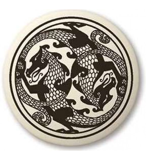 Dragon Round Porcelain Necklace at All Wicca Store Magickal Supplies, Wiccan Supplies, Wicca Books, Pagan Jewelry, Altar Statues