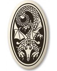Dragon Oval Celtic Porcelain Necklace All Wicca Store Magickal Supplies Wiccan Supplies, Wicca Books, Pagan Jewelry, Altar Statues