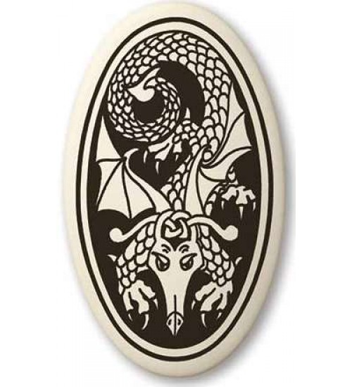 Dragon Oval Celtic Porcelain Necklace at All Wicca Store Magickal Supplies, Wiccan Supplies, Wicca Books, Pagan Jewelry, Altar Statues