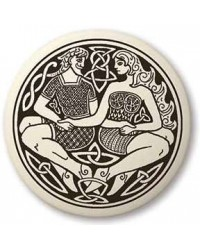 Divine Couple Celtic Round Porcelain Necklace All Wicca Store Magickal Supplies Wiccan Supplies, Wicca Books, Pagan Jewelry, Altar Statues