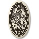 Divine Couple Celtic Oval Porcelain Necklace