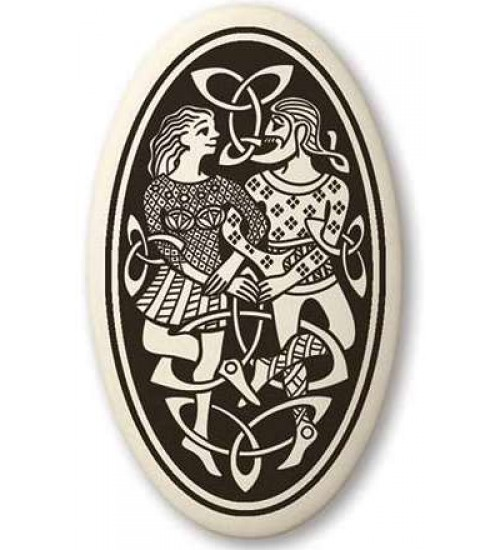 Divine Couple Celtic Oval Porcelain Necklace at All Wicca Store Magickal Supplies, Wiccan Supplies, Wicca Books, Pagan Jewelry, Altar Statues