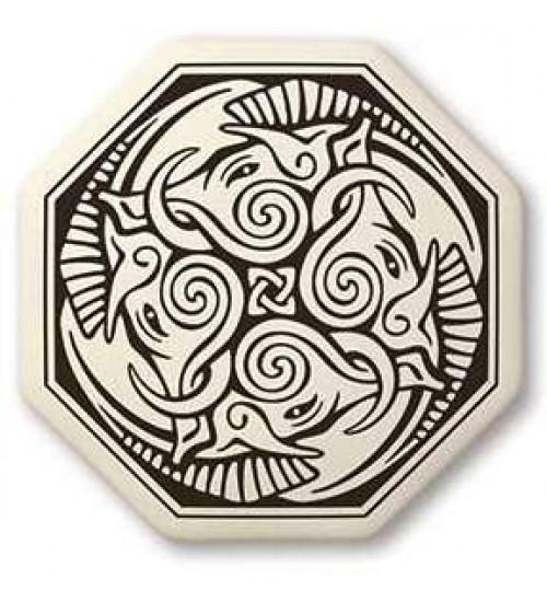 Cerridwen Octagonal Porcelain Necklace