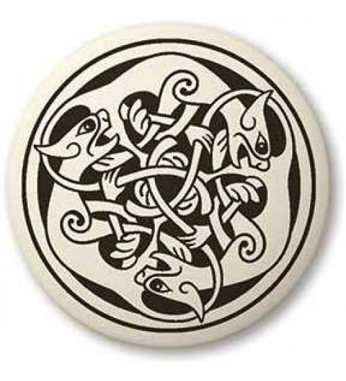 Cat Celtic Round Porcelain Necklace at All Wicca Store Magickal Supplies, Wiccan Supplies, Wicca Books, Pagan Jewelry, Altar Statues