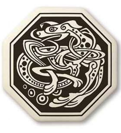 Celtic Dog Octagon Porcelain Necklace at All Wicca Store Magickal Supplies, Wiccan Supplies, Wicca Books, Pagan Jewelry, Altar Statues