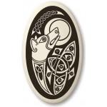 Celtic Dog Oval Porcelain Necklace