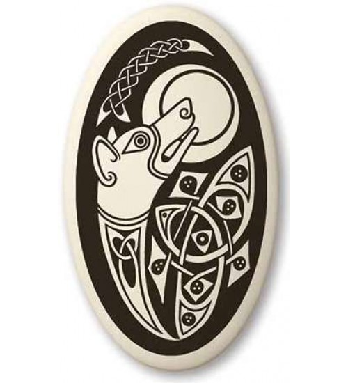 Celtic Dog Oval Porcelain Necklace at All Wicca Store Magickal Supplies, Wiccan Supplies, Wicca Books, Pagan Jewelry, Altar Statues
